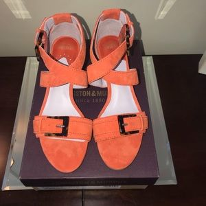 Johnston & Murphy Katarina Orange Suede 6 NIB